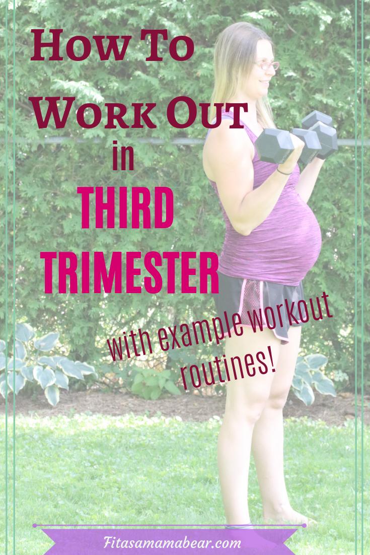 Third trimester strength workout