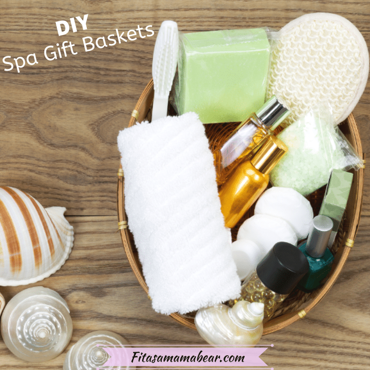 Featured image: a picture of a basket full of self care spa items