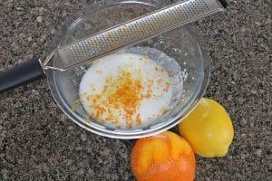 Homemade sugar scrubs recipe in process image