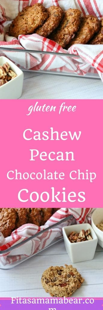 Gluten free, healthy cashew pecan cookies. Easy to make, simple, real food, no processed sugar.