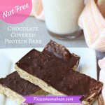 No Bake Protein Bars Topped With Healthy Chocolate