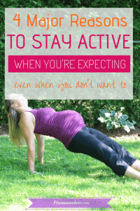 Benefits of being fit when pregnant