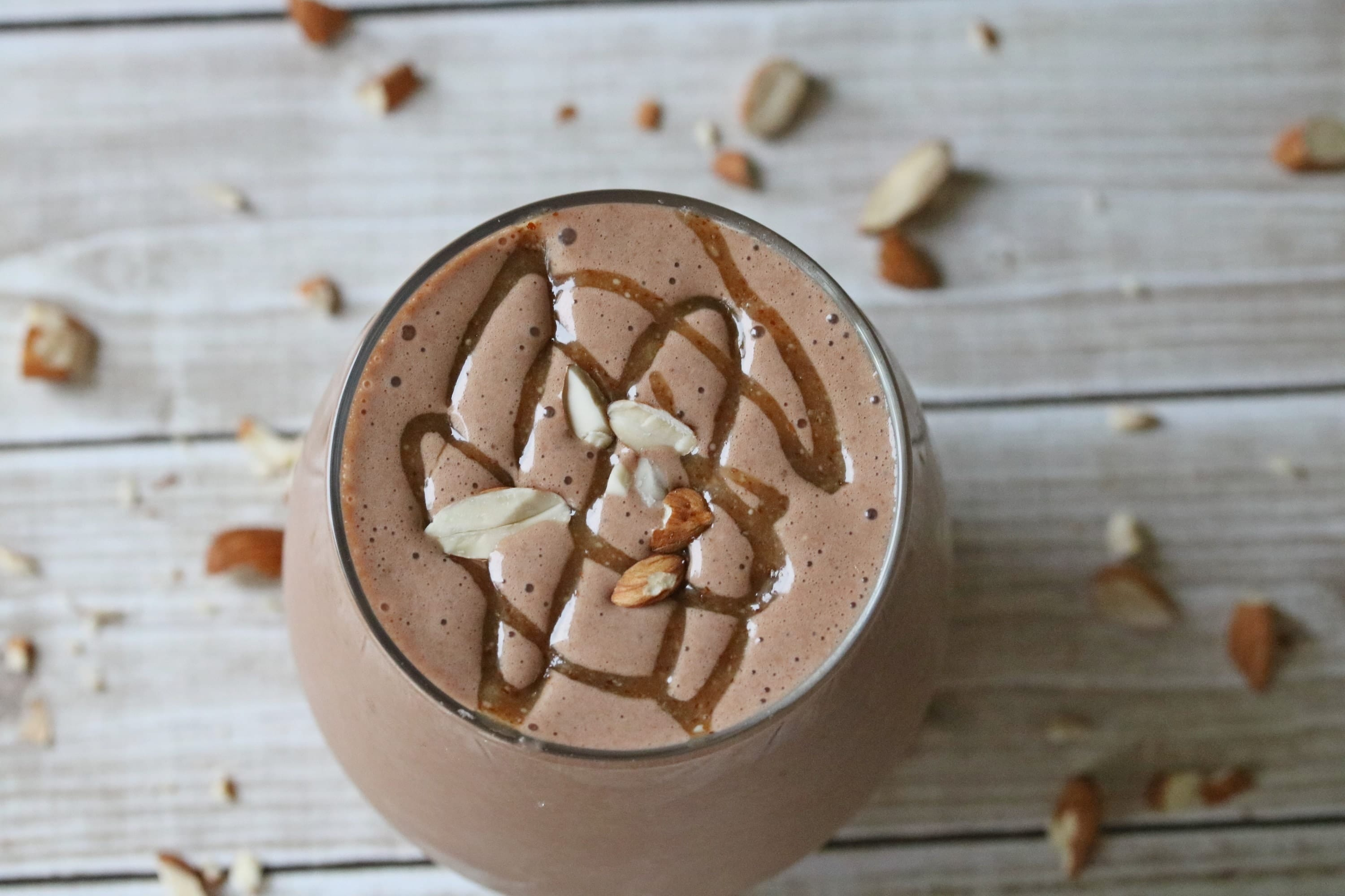Chocolate banana chunky monkey protein shake