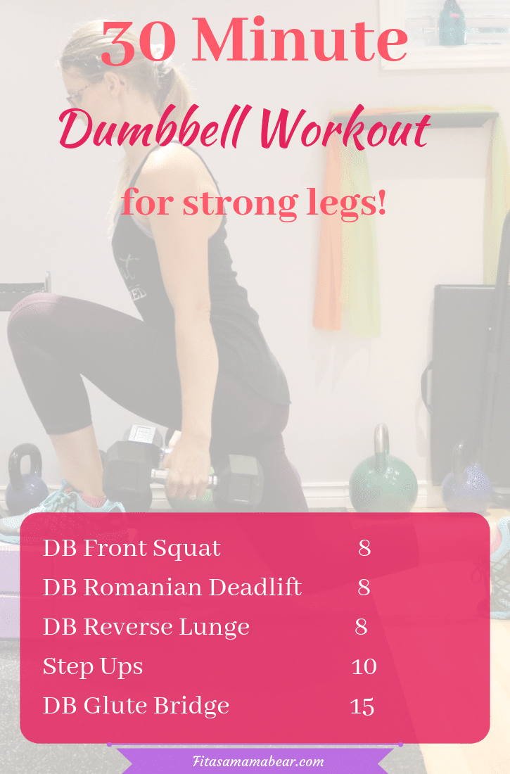 Workout for strong legs