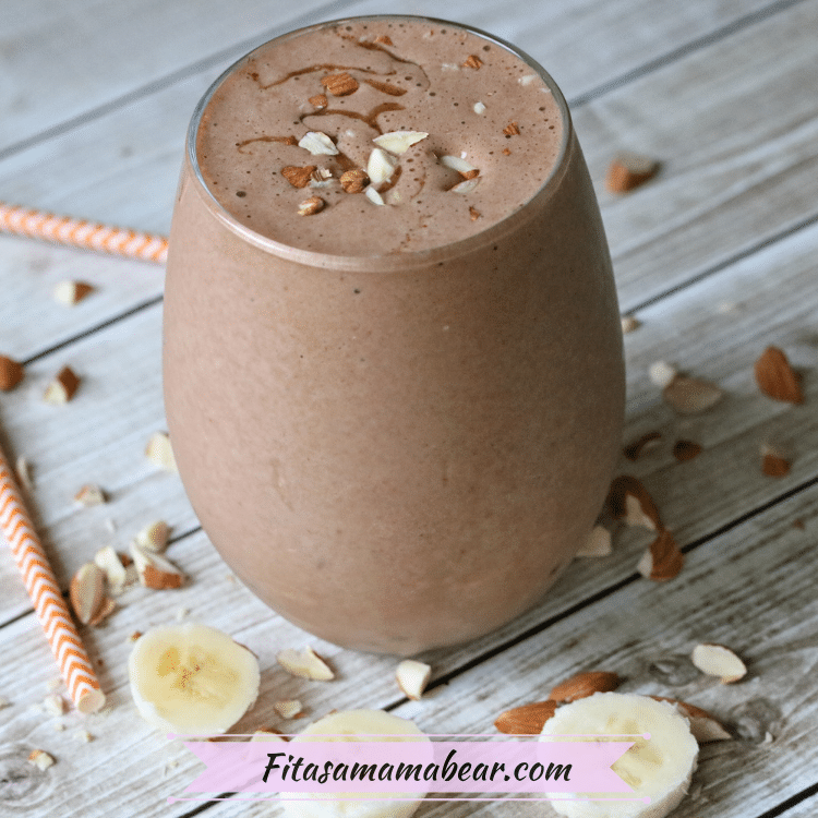 Featured image: a chocolate smoothie in a glass jar