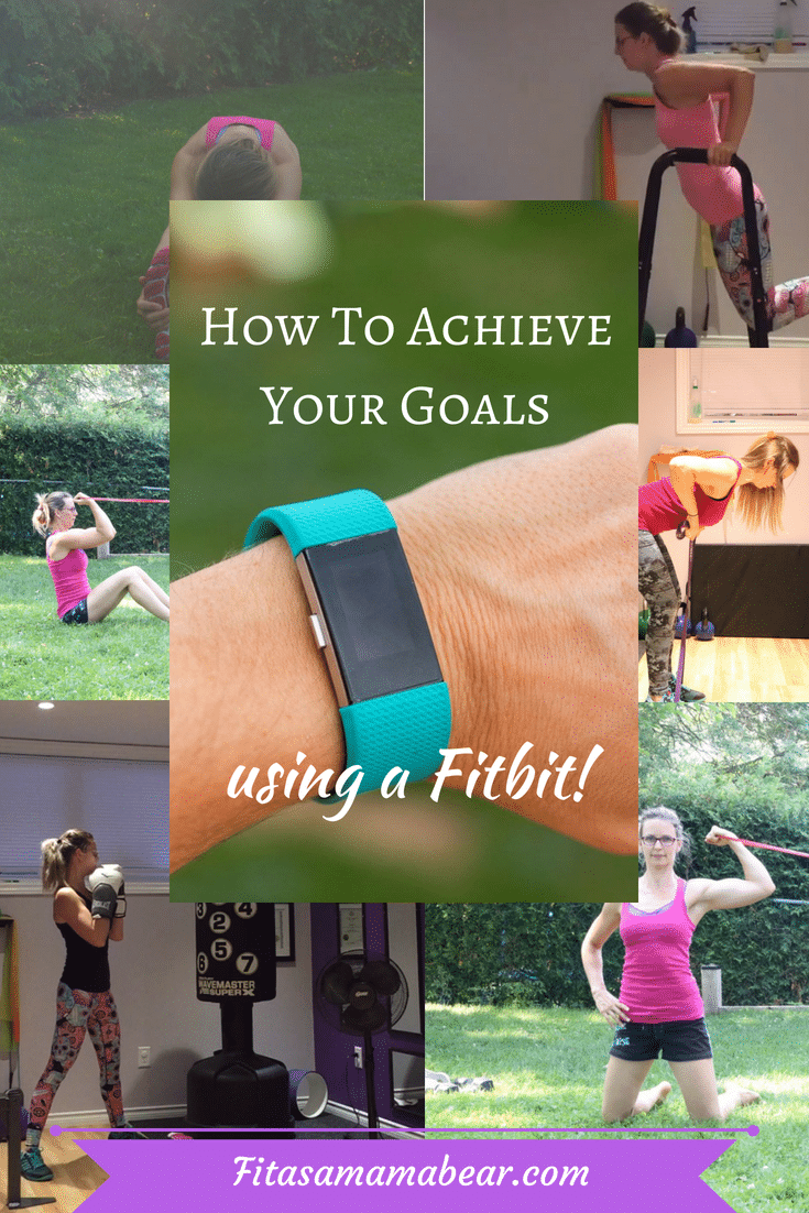 Fitness exercises and a fitbit