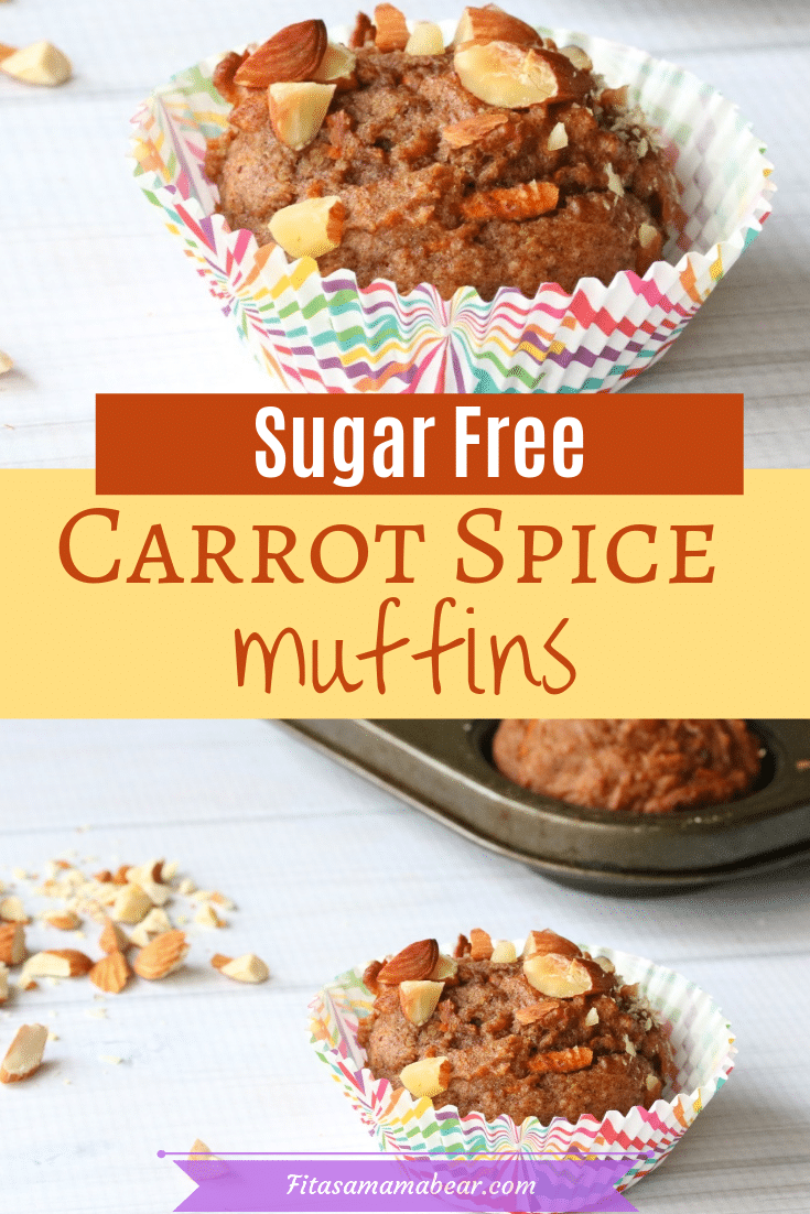 Healthy carrot spice muffins
