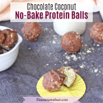 Vegan No Bake Protein Balls: Chocolate Coconut