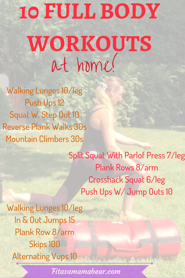 Full body at home workouts