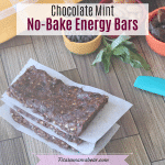 Homemade Energy Bars - Mint Chocolate Chip