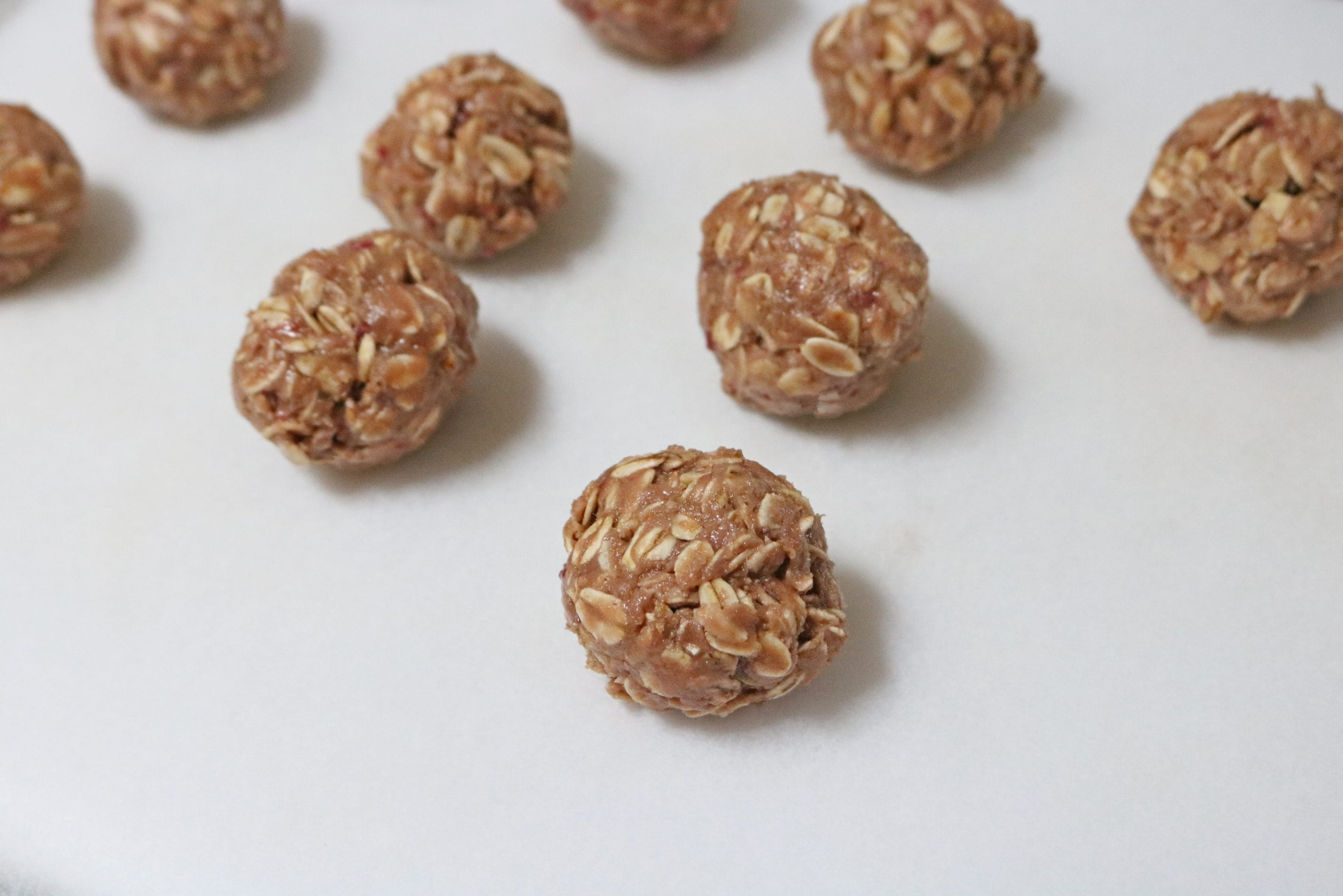 Peanut butter and jam protein balls