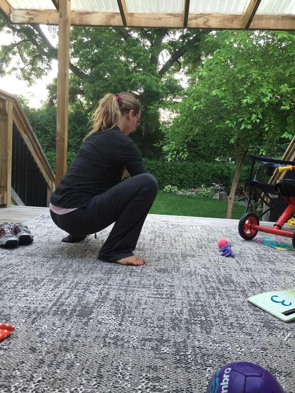 Deep squat postpartum