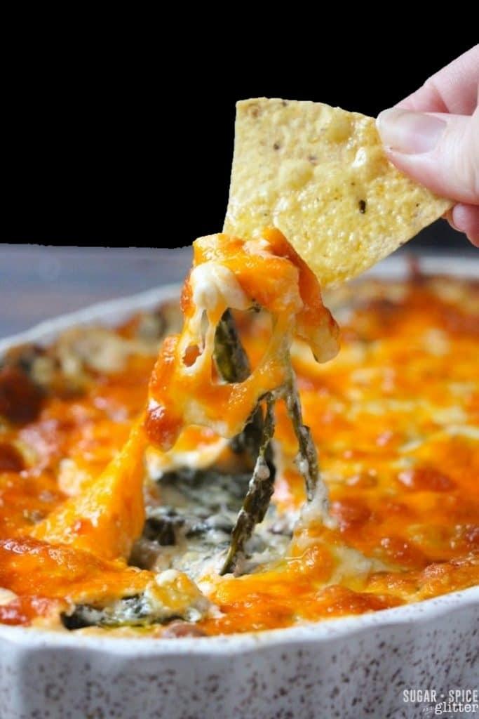 Cheesy keto dip