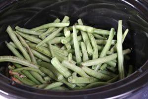 Green beans in a crockpot