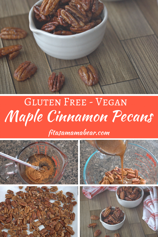 Gluten free maple cinnamon candied pecans