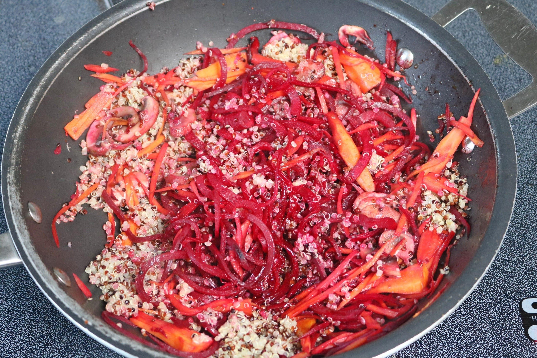 Gluten free thai stir fry prep