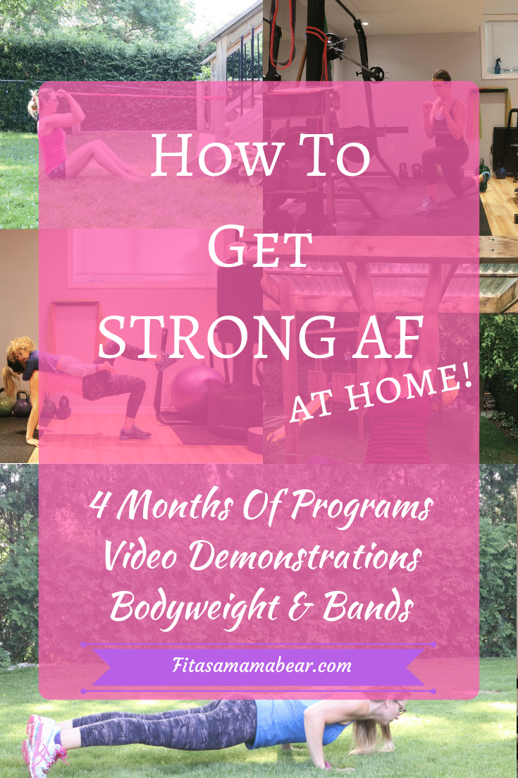 How to get Strong AF when working out for home! Stay fit, active and healthy without hitting the gym #fitness #gym #workout #athomeworkout #workoutsformoms #bodyweightworkout