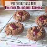 Peanut Butter & Jam Flourless Cookies I Dairy-Free & Gluten Free