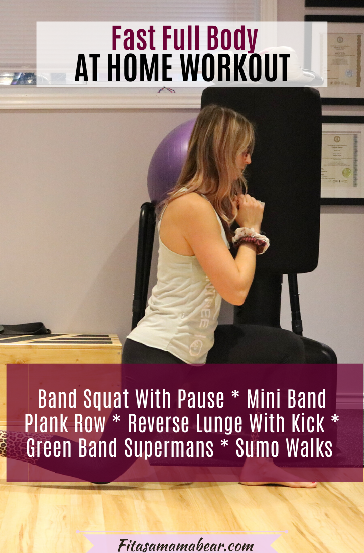 Pinterest image with text: woman in workout clothes working out at home