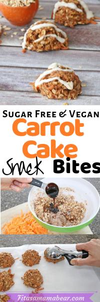 Sugar free carrot bake bites
