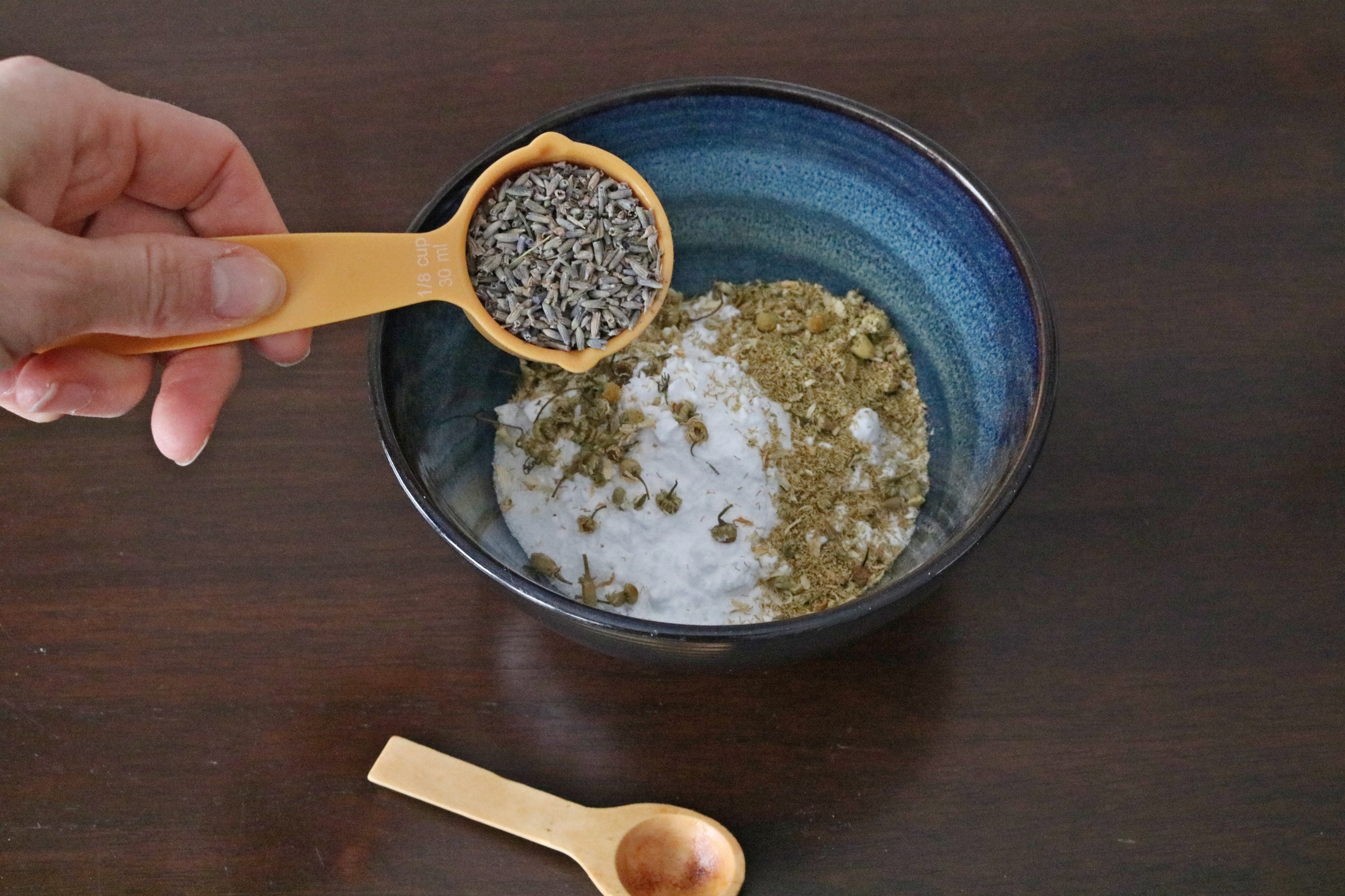 Homemade lavender foot soak