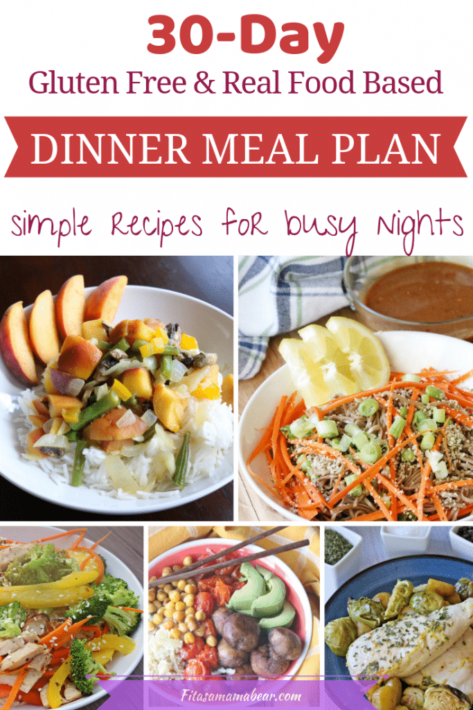 30 day meal p[an simple dinners