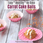Vegan Carrot Cake Balls With Icing