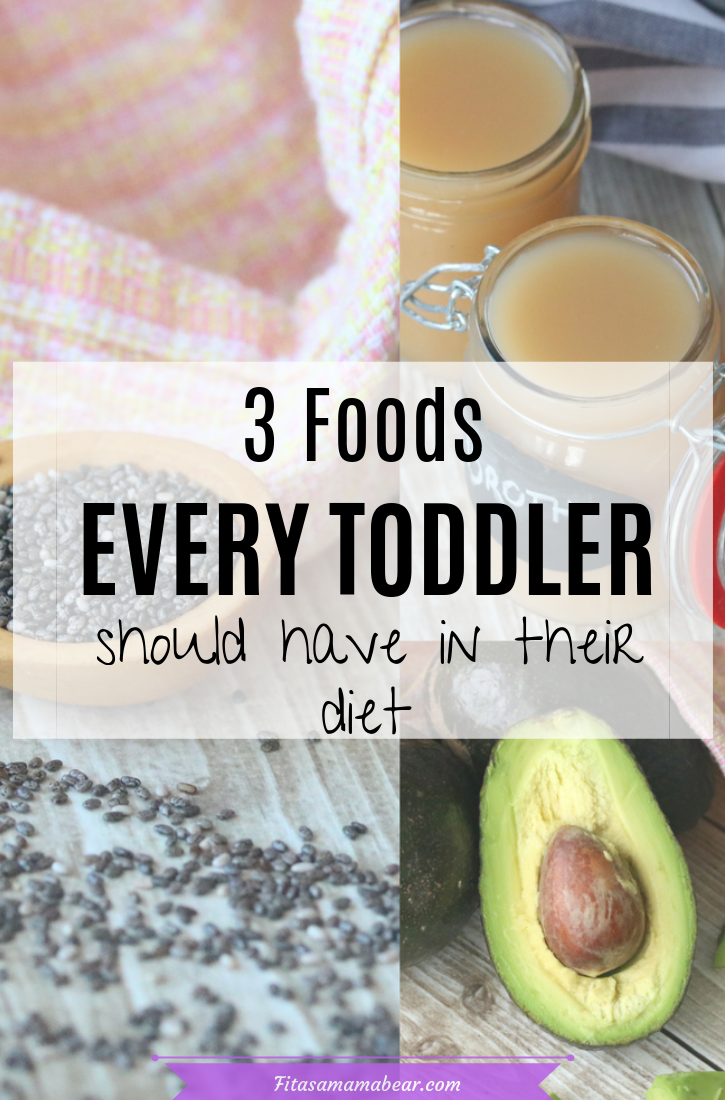 Crucial foods for toddlers