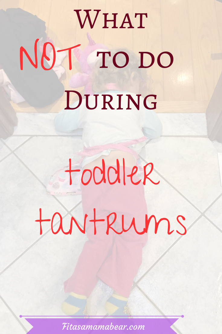 How to avoid toddler tantrums