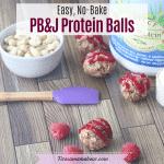 Peanut Butter & Jam Vegan Protein Balls