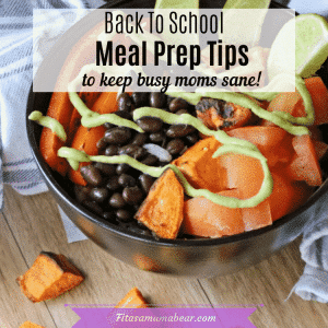 Meal Plan Tips & Tricks text over a black bowl of food