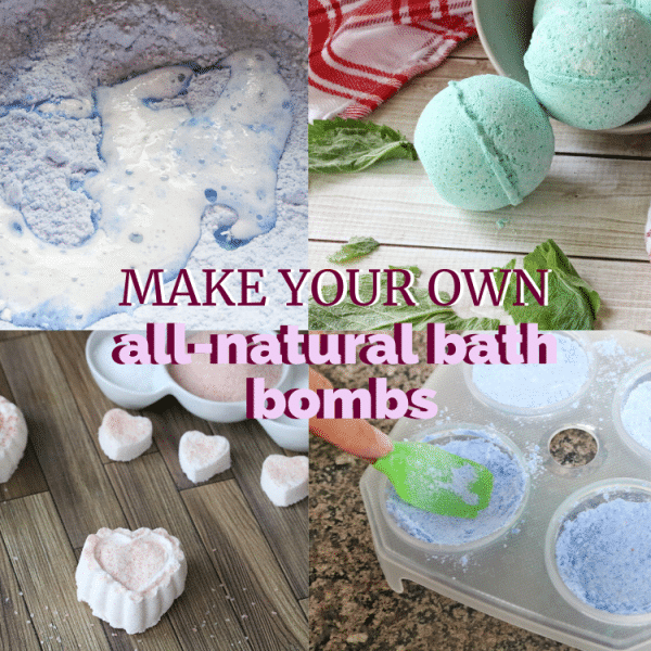 Facebook Image with text: How to make bath bombs