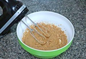 Inprocess image: Gluten-free cashew cookies ingredients being mixed
