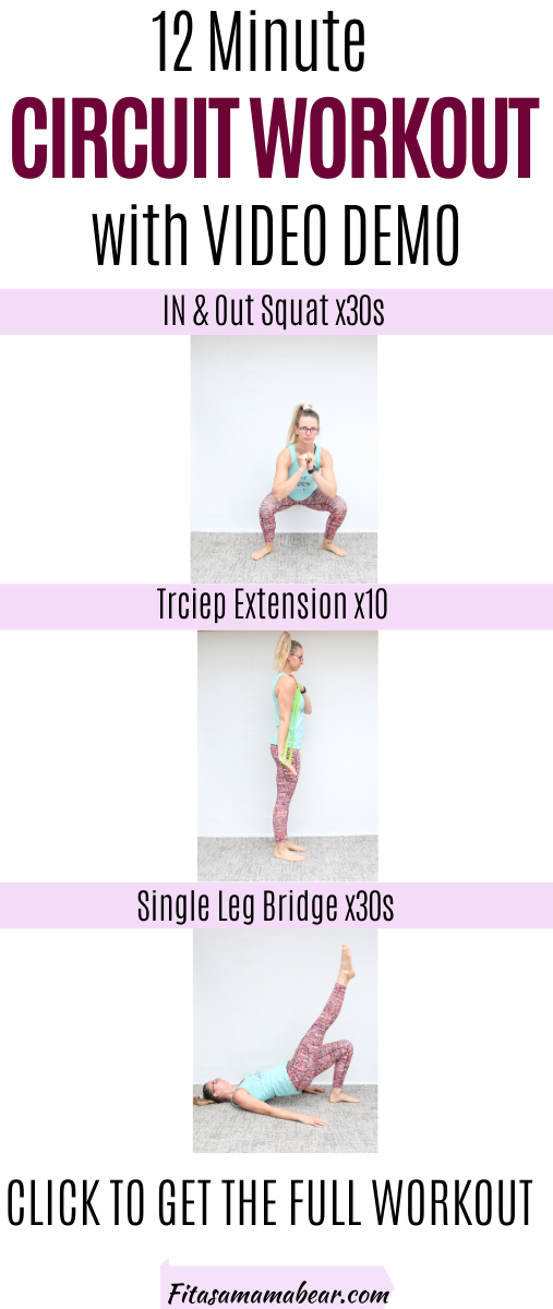 Pinterest image with text: woman in bright pants and green shirt in a variety of exercises