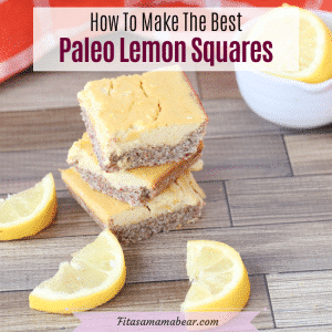 Facebook image with text: lemon squares stacked with lemons around them. Lemons in a bowl behind them and more squares around and behind