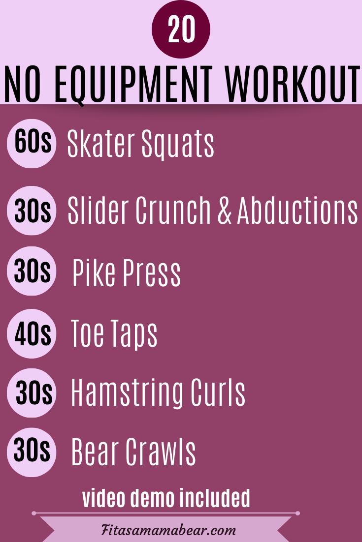 Pinterest image with text: pink background with text workout laid out