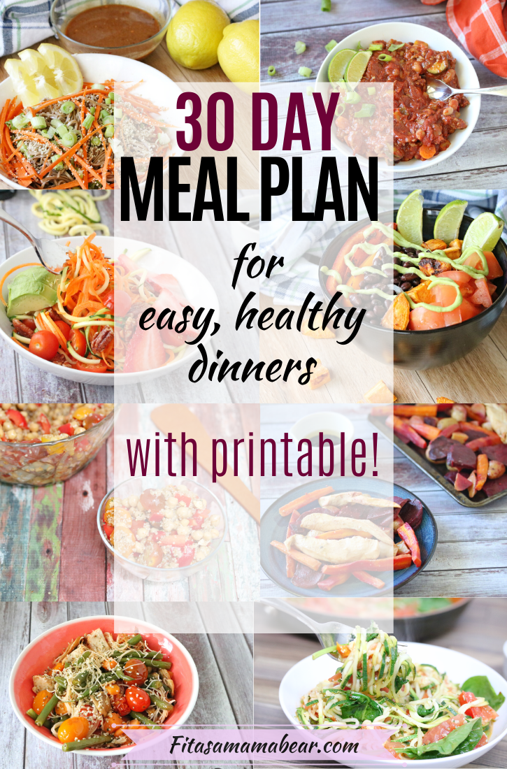 Pinterest image with text: multiple food images in a collage with a text overlay