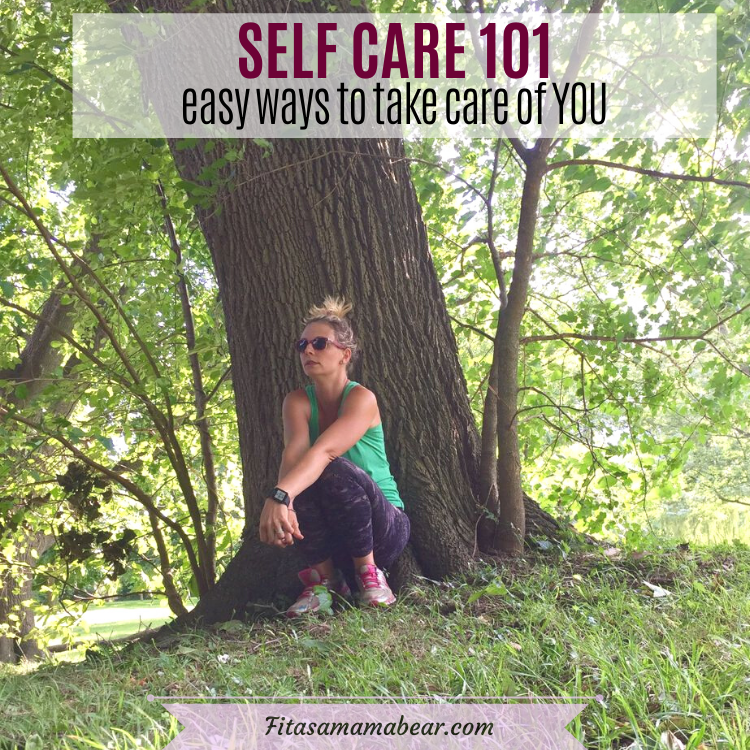 featred image with text: woman in green shirt and dark pants sitting otuside at the base of a tree