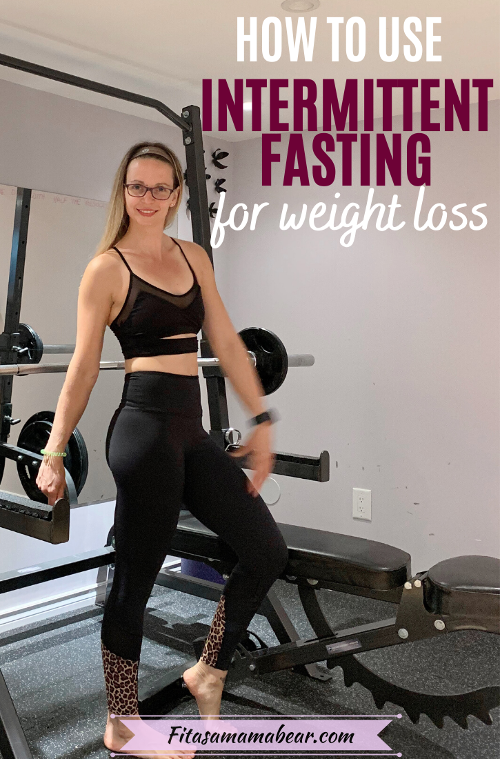 Woman in black sports bra and black pants standing in front of gym equipment with text on the image