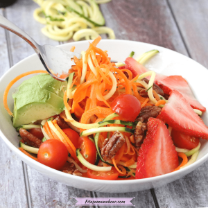 Raw Zucchini Salad Recipe (Spiralized, Vegan)