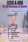 Pinterest image with text: woman in pink shirt and pants performing a leg exercise in the gym