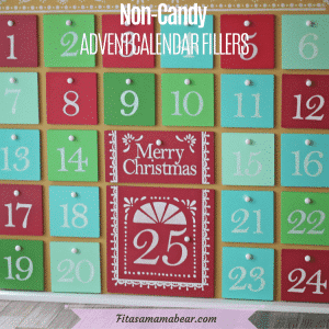 Featured image with text: red and green wooden advent calendar close up