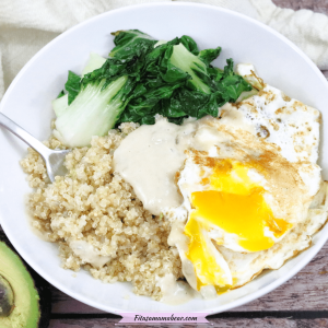 Savory Quinoa Breakfast Bowl With Egg (Dairy & Gluten-Free, Healthy)